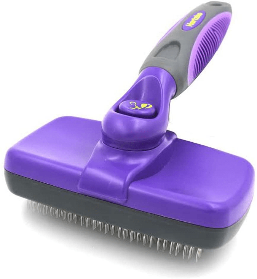 Hertzko Self Cleaning Slicker Brush Tangled Dog Hair