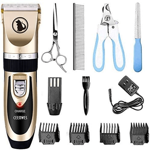 Ceenwes Dog Clippers Trimmer Comb and Scissors Nail Kits