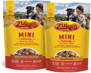Zuke's Mini Naturals Training Dog Treats Peanut Butter and Oats